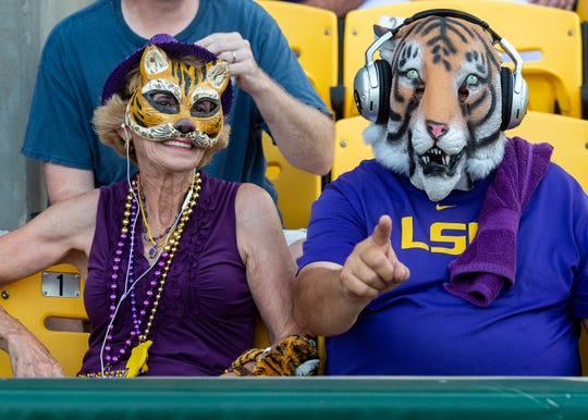 The LSU Tigers take on the Florida State Seminoles in the 2019 NCAA Baton Rouge Super Regional.. Saturday, June 8, 2019.