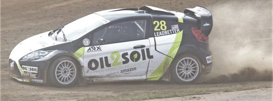 Gray Leadbetter runs her practice round during Day 1 of the America's Rally Cross at Mid-Ohio on Saturday.
