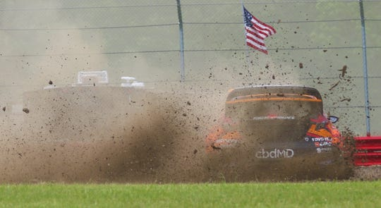 America's Rallycross driver Steve Arpin rips up some dirt and puts on a show for spectators at the ARX of Mid-Ohio over the weekend.