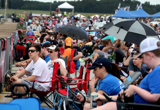 Crowds gather early to watch The Great Tennessee Air Show on Saturday, June 8, 2019, at the Smyrna Airport.