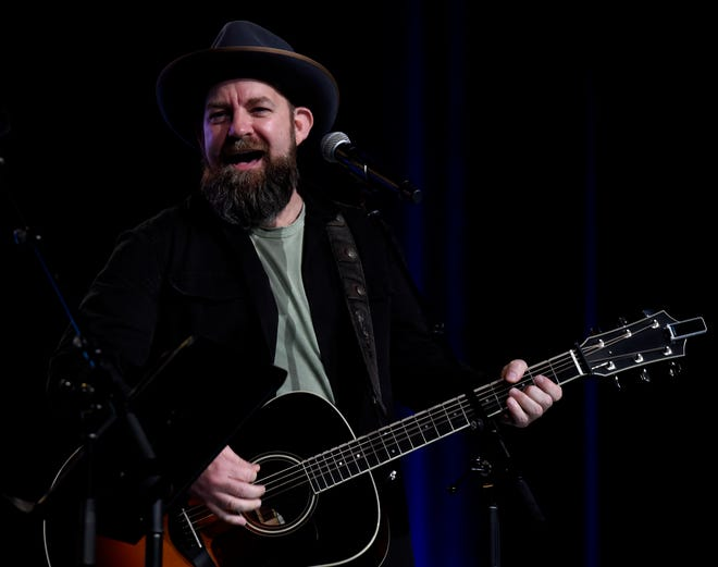 Kristian Bush performs at the Close Up Stage during the CMA Fest on Saturday, June 8, 2019, in Nashville, Tenn.