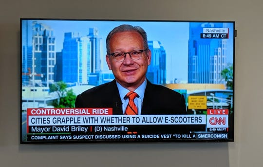 Mayor David Briley discusses electric scooters on CNN.