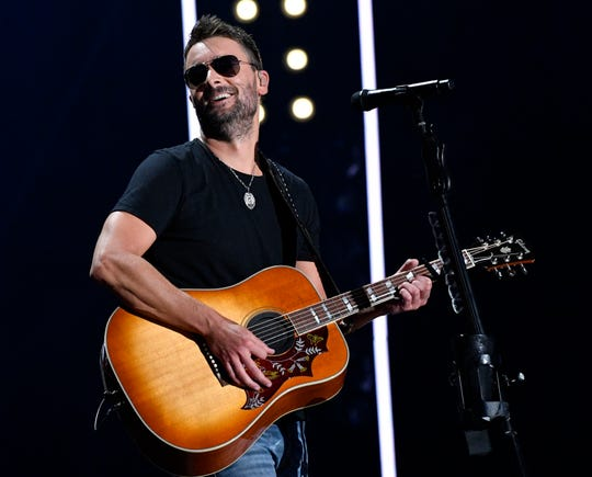 Eric Church performs during the CMA Music Festival on June 7, 2019, at Nissan Stadium in Nashville.