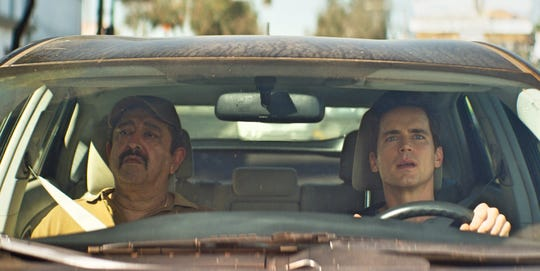 "In ""Papi Chulo,"" Sean (Matt Bomer, right) hires Ernesto (Alejandro Patiño) for a painting job."