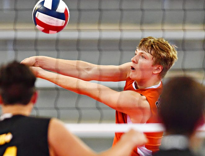 Central York's Braden Richard, seen here in a file photo, has been named a second-team All-American by the American Volleyball Coaches Association.