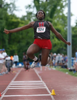 Hilton senior Anaya Dees won the state Division I championship in the girls long jump in 2019.
