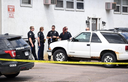 Police investigate a shooting on Cliff Ave. on Saturday, June 8, in Sioux Falls.