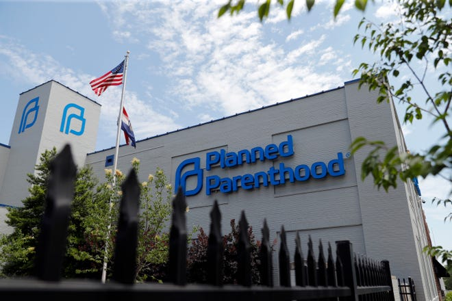 A Planned Parenthood clinic is seen Tuesday in St. Louis. A judge is considering whether the clinic, Missouri's only abortion provider, can remain open.