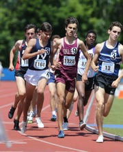 Iona Prep's Pedro Bravo competes in the 1600-meter run at the NYSPHSAA Track & Field Championships ar Middletown High School in  Middletown on Saturday, June 8, 2019.