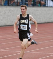 Nanuet's Ryan Guerci competes in the 3200 Meter Run during the New York State Track Championships in Middletown on June 7, 2019.