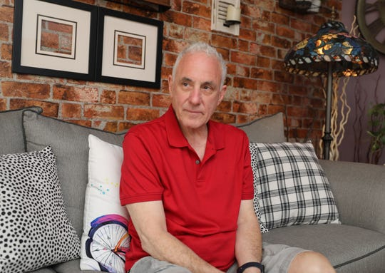 """Kevin McKenna is pictured in his home in Dobbs Ferry, June 8, 2019. Kevin, the on-set medic for the show """"The Blacklist,""""  recently revived a diner choking in a Westchester restaurant by using the Heimlich Maneuver. This is apparently the 4th time Kevin McKenna has saved someone's life this way."""