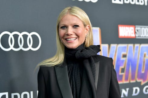 "Oops: Gwyneth Paltrow (aka Pepper Potts) momentarily she forgot she appears in ""Spider-Man: Homecoming."""