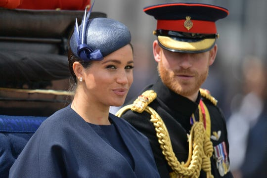 Duchess Meghan, Prince Louis attend Trooping the Colour