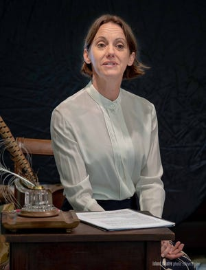 """Jennifer Hodges as Emily Dickinson in """"The Belle of Amherst."""""""