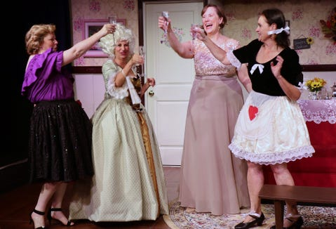 "Diana George (from left), Janet Barton, Anne Biglow and Niecie Packer in ""Always a Bridesmaid"" at the Jewel Box."