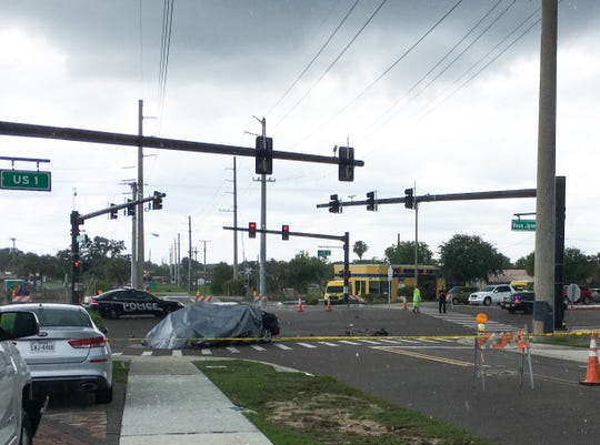 A motorcyclist died in a crash Sunday afternoon at the intersection of Rosa L Jones Drive and US-1 in Cocoa.