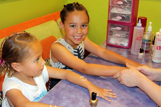 Girls get the salon treatment at Sweet & Sassy.