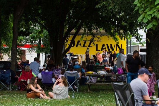 Hundreds of people turned up for Jazz on the Lawn at Beachaven Winery & Vineyards last year. Beachaven, which typically hosts about a dozen popular Jazz on the Lawn events, said they're on hold for now.