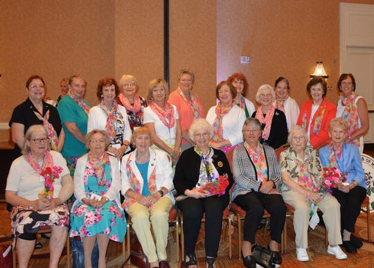 Members of the Neshanic Garden Club at the June 6 meeting of The Garden Club of New Jersey at the Bridgewater Marriott. (Standing left to right) Luann Dewolfe, Barbara Majewski, Marion Nation, Susan Cusumano, Janet Gibson, Barbara Zielsdorff, Teri Halvorson, Alice Van Cleef, Carmella Shepley, Linda Peterson, Barbara Devitt and Diana Reinhardt. (Seated, left to right) Marylin Hulme, Ruth Robinson, Co- President of Neshanic Garden Club, Kathy Herrington; new President of The Garden Club of New Jersey and also a member of Neshanic Garden Club, Jeannie Geremia; Co-President of Neshanic Garden Club, Cathy Heuschehkel; Lorlyn (Sam) Covert, and Jean Stives.