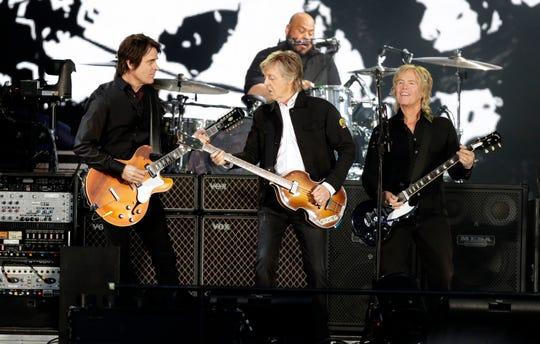 Paul McCartney performs June 8, 2019 at Lambeau Field in Green Bay, Wis.