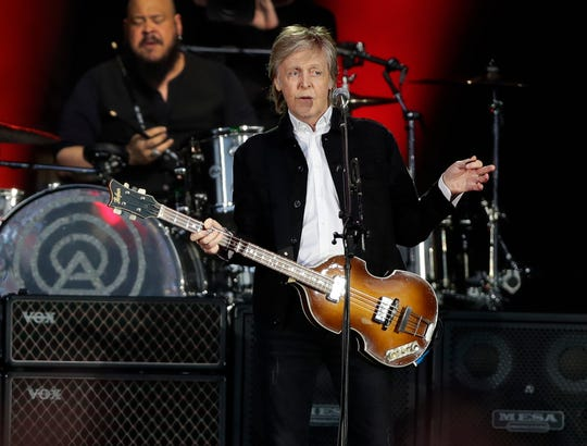 Paul McCartney opens the Green Bay stop of his Freshen Up Tour Saturday at Lambeau Field.