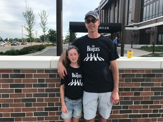 Julia Holz, 11, and her Dad Bill share a love of The Beatles.
