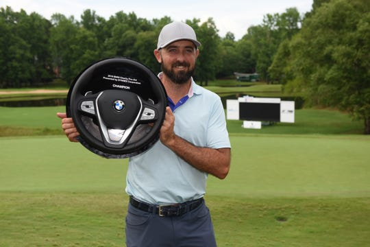 Rhein Gibson notched the first Web.com Tour victory of his career on Sunday.