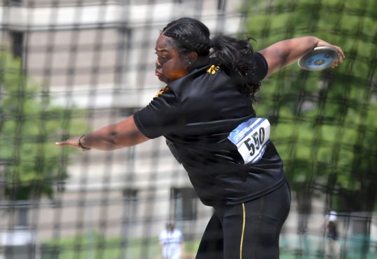 Laulauga Tausaga secured Iowa's first NCAA women's track-and-field title since 2006.
