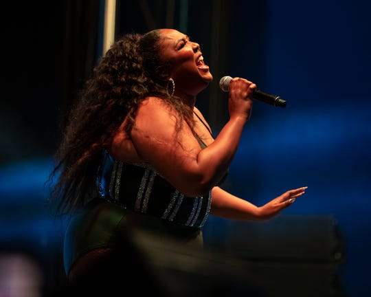 Lizzo headlines the Indy Pride Festival held at Military Park at White River State Park in Downtown Indianapolis on June 8, 2019.