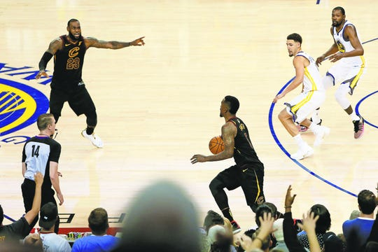 J.R. Smith of the Cleveland Cavaliers dribbled out instead of going for a winning basket against Golden State in a 2018 NBA Finals game. LeBron James was beside himself.