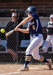 Hartland's Maddy Cheney had four hits and four RBI in her final four at-bats in the regional softball tournament on Saturday, June 8, 2019.