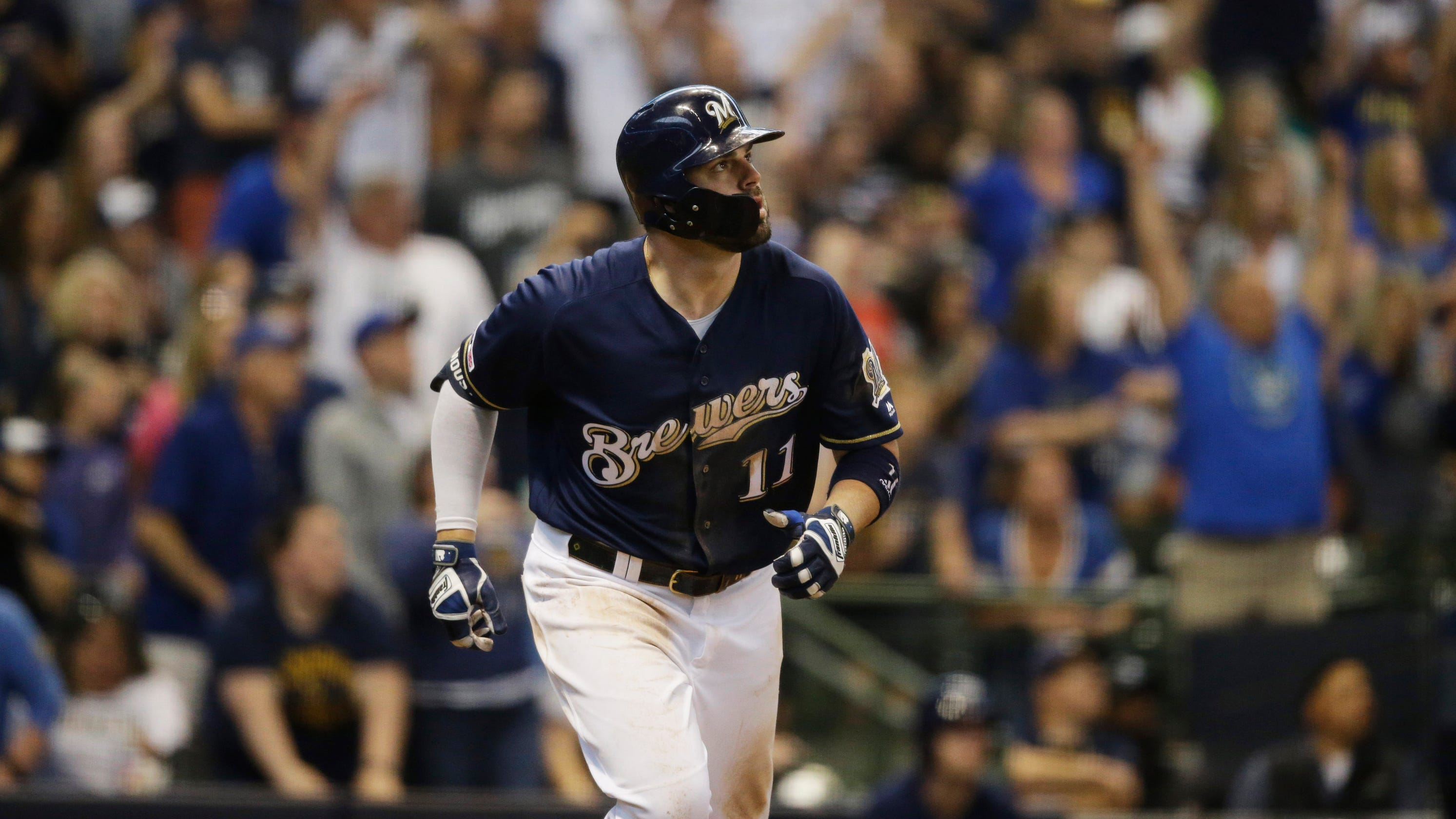 wholesale dealer e1c50 ec1cd Brewers 5, Pirates 2: Mike Moustakas steals the show with a ...