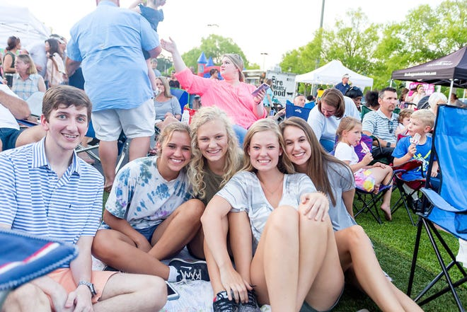 The 'Sounds of Summer takes' place every Thursday in June from 7 p.m. to 9 p.m. near the H&M store within EastChase. Hundreds of people enjoy live, local bands. There is no admission charge.