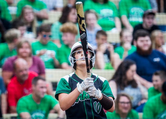 Lexie Robertson and the Yorktown Tigers lost, 10-0, against New Palestine in the Class 3A state final. It's New Palestine's third-straight 3A championship.