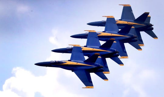The U.S. Navy Flight Demonstration team the Blue Angels, perform during The Great Tennessee Air Show on Saturday, June 8, 2019, at the Smyrna Airport.