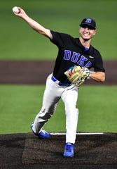 El lanzador Bryce Jarvis, procedente de Duke, fue seleccionado por los D-Backs con la selección general No. 18 en el draft de la MLB 2020.