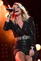 Miranda Lambert performs during the CMA Music Festival on June 8, 2019, at Nissan Stadium in Nashville.