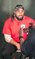 Former Giants captain and current Redskins safety Landon Collins held his third celebrity softball event Saturday night in Pomona, N.Y.