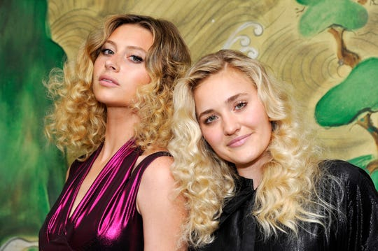 Aly & AJ Michalka at the Wolk Morais Collection 5 Fashion Show at Yamashiro on May 22, 2017 in Los Angeles.