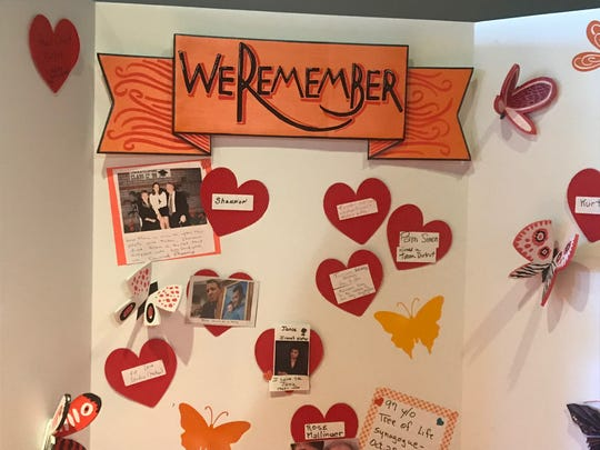 A memory wall honors those whose lives were affected by gun violence.