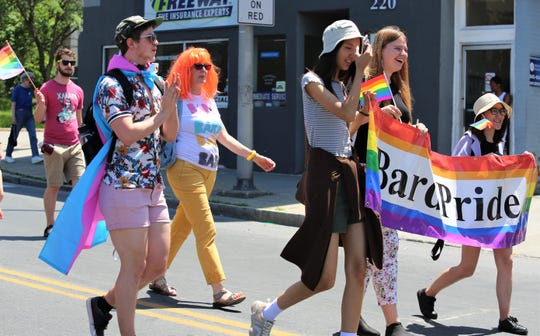 At least one thousand people participated in the City of Poughkeepsie's first pride parade on Sunday, June 9, 2019, including members of Bard College.