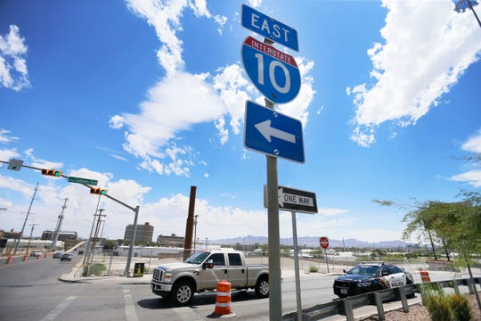 Traffic is rerouted at Reynolds street and Gateway Boulevard East because Interstate 10 is closed Sunday, June 9, in El Paso. Two of the closures Sunday were related to the I-10 connect project. The project is underway to help ease congestion for international travelers and truckers between El Paso and Juarez.