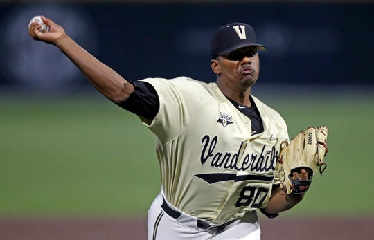 Vanderbilt's Kumar Rocker in action against Duke.
