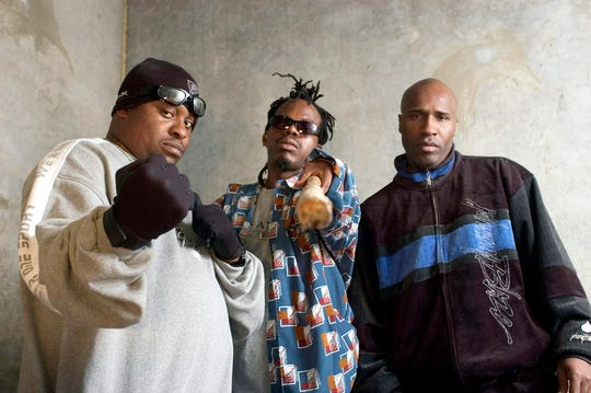 Scarface, left, of the Geto Boys is running for office in Houston. Bushwick Bill, center, died Sunday. Willie D is at right.