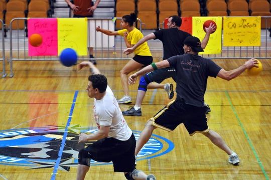Dodgeball team in Albany, New York.