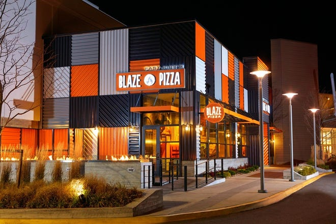 A Blaze Pizza location in New York.