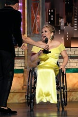 """Ridgewood native Ali Stroker wins the Tony award for """"featured actress in a musical"""" at Radio City Music Hall on Sunday, June 9, 2019, in New York."""