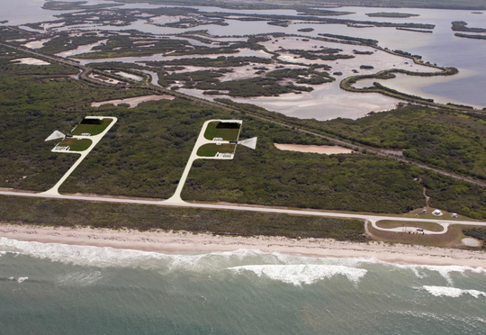 Renderings of NASA's future Launch Complex 48 at Kennedy Space Center, which is being built for small launch vehicles.