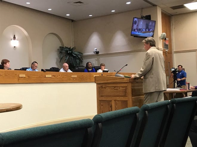 Titusville resident J.D. Daniel argues that renting out rooms on Airbnb didn't violate city code at a June 10 hearing.