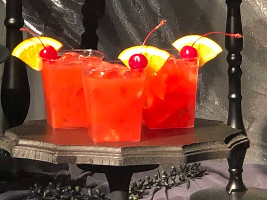 """Drink From the Other Side is a non-alcoholic hurricane inspired by the movie """"Princess and the Frog."""""""